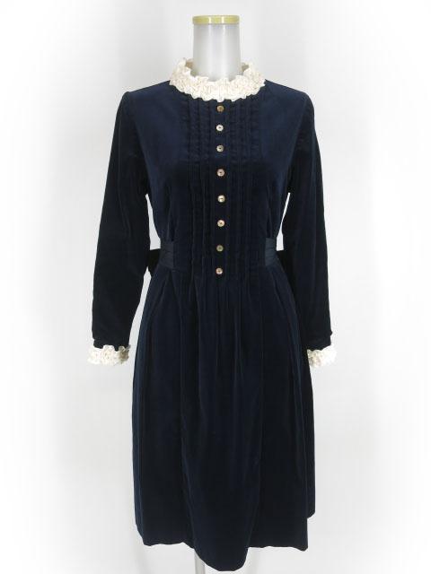 Jane Marple コットンベルベットのコレットドレス