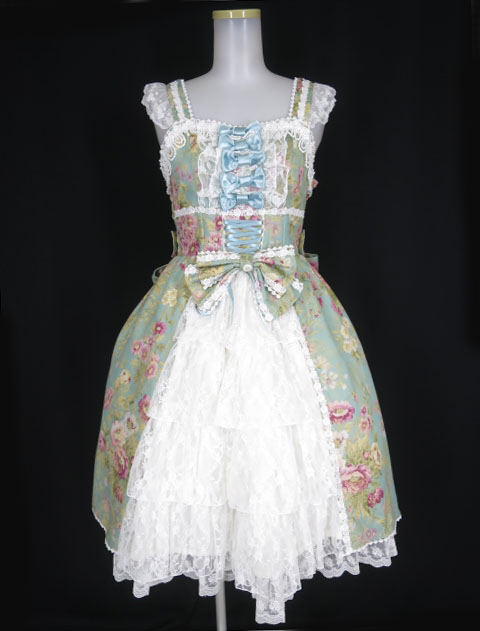 Metamorphose royalジャガードコルセット風ジャンパースカート