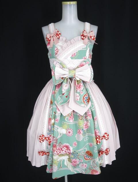 Metamorphose 花鳥風月~乙女のはなごろも~プリーツジャンパースカート