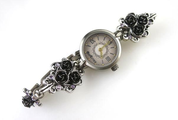 Ozz Croce ローズモチーフ腕時計
