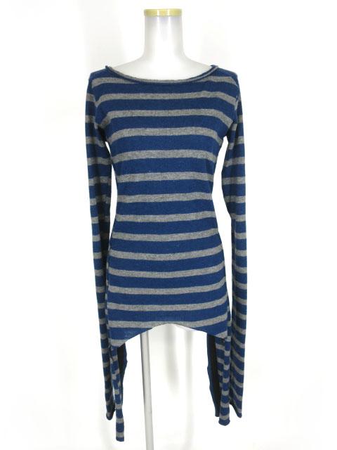 alice auaa 編み上げ付きボーダーニットセーター