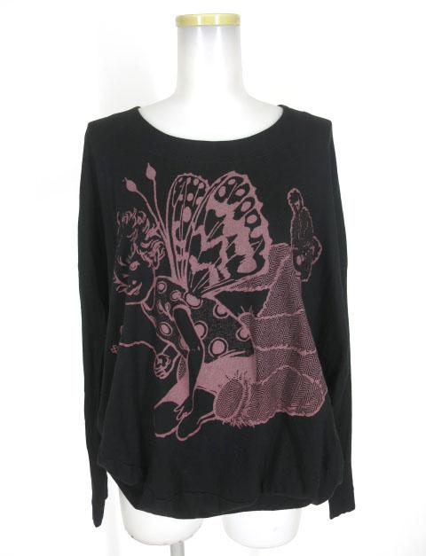 Vivienne Westwood RED LABEL 妖精 & テディベアプリント変形長袖カットソー