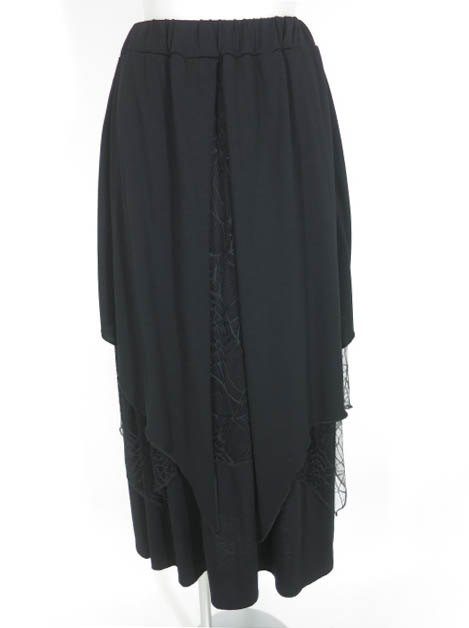 SEX POT SPIDERWEB & BAT FLAP レイヤード スカート