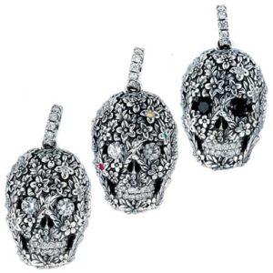 Q-pot Floral Skull Pendant フローラルスカルペンダント SPJ550