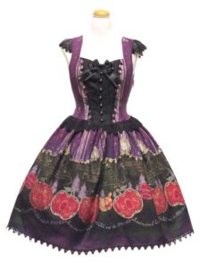 ALICE and the PIRATES つぎはぎ林檎の白雪姫柄ジャンパースカートII型