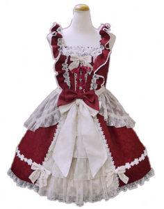 BABY,THE STARS SHINE BRIGHT グラスグリーンのPastoral お花摘みの少女ジャンパースカート