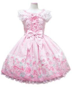 Angelic Pretty Romantic Rose Letter ジャンパースカート