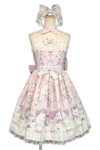 Angelic Pretty 今井キラコラボ 猫のお茶会ジャンパースカートSet