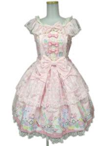 Angelic Pretty サンリオ Wish me mell Tea TimeジャンパースカートSet