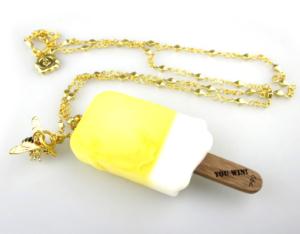 Q-pot ハチミツレモン アイスキャンディー・ネックレス