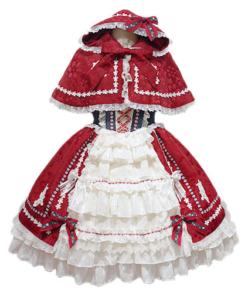 BABY,THE STARS SHINE BRIGHT おとぎの国の赤ずきんちゃんジャンパースカート(ケープセット)