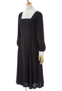 EXCENTRIQUE メイドのジョーゼットドレス