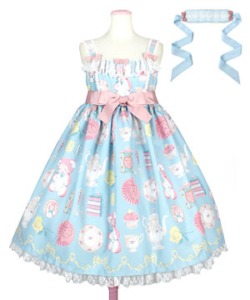 Angelic Pretty Doll's Tea PartyジャンパースカートSet