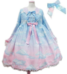 Angelic Pretty Misty Sky Brilliant Color ワンピースset