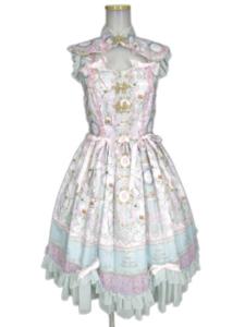 BABY,THE STARS SHINE BRIGHT SA・KU・RA色のTea Time柄 Oriental カラージャンパースカート