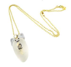 Q-pot ホワイトキャットプリンセスゴーストネックレス