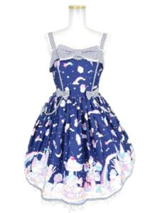 Angelic Pretty Milky★Planet ジャンパースカート・ワンピース