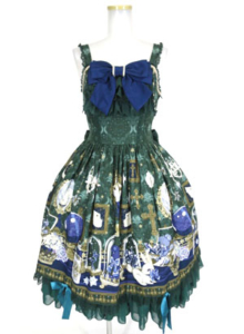 Angelic Pretty メルカトル骨董品店ロングジャンパースカート